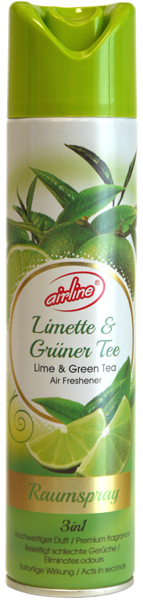 00516 - air freshener spray 300 ml - lime and green tea