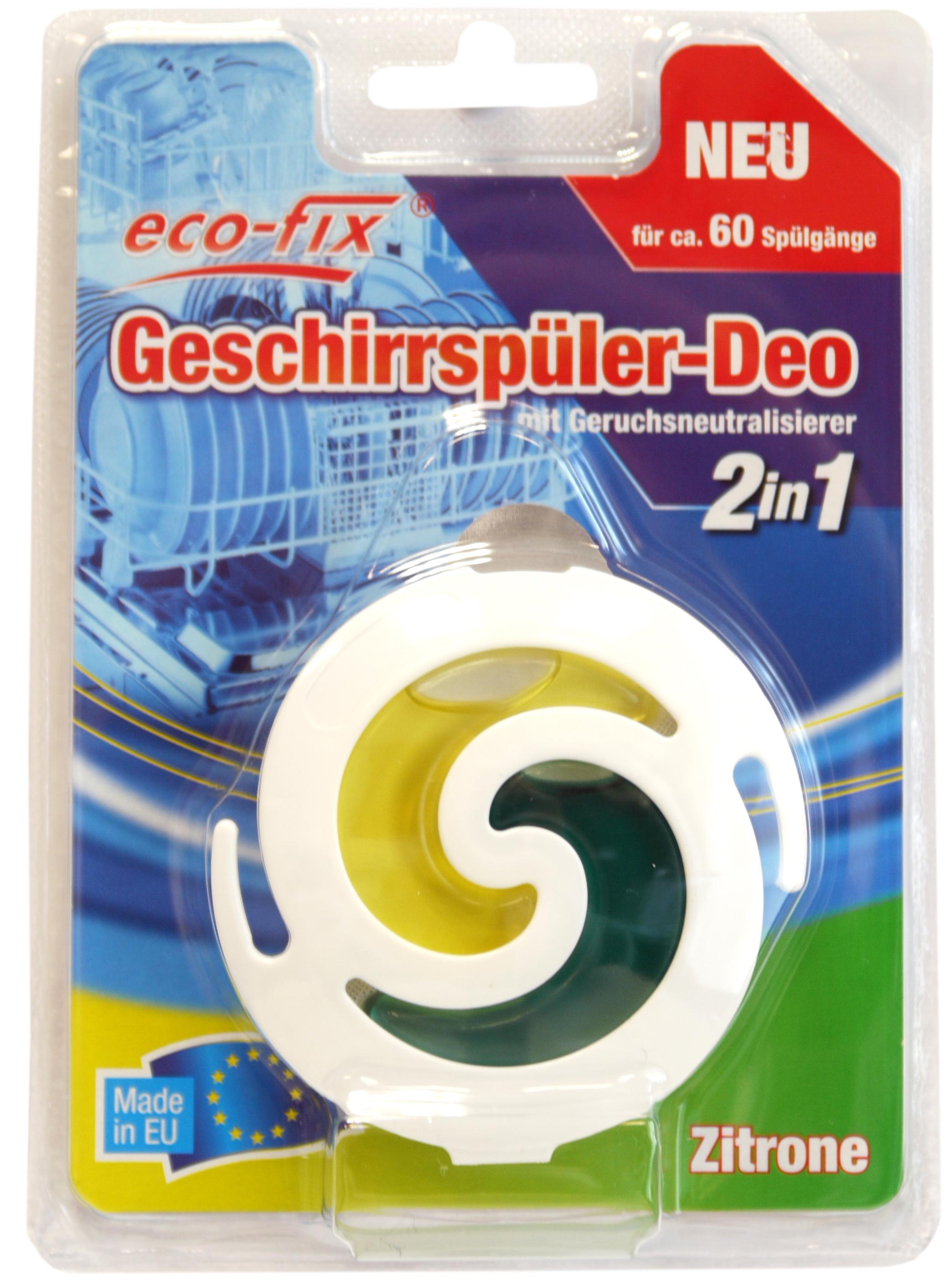 00525 - eco-fix Geschirrspüler-Deo, 2in1, Zitrone