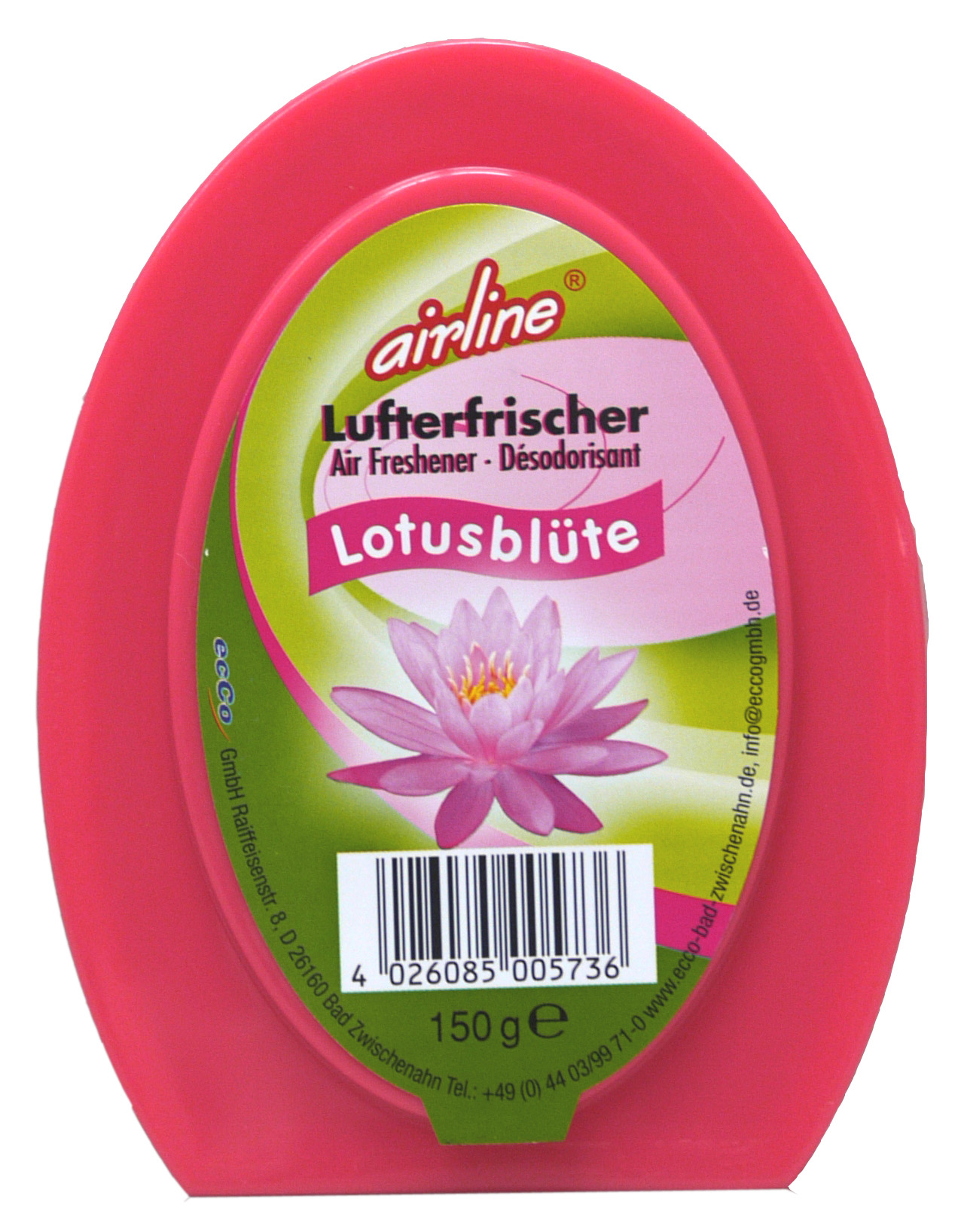 00573 - airline Duftgel 150 g -Lotusblüte