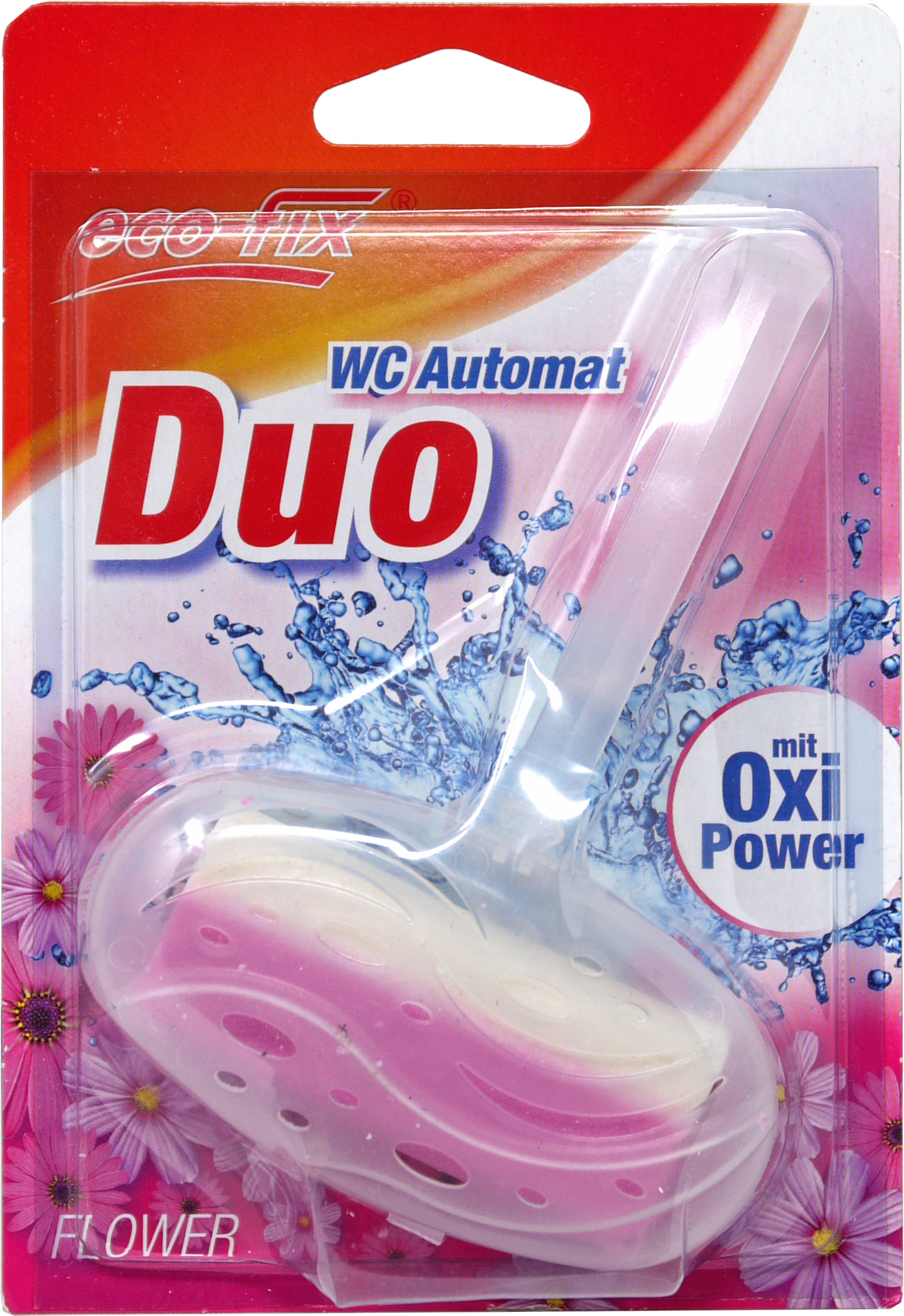 00875 - eco-fix WC Automat Duo mit Oxi-Power, 40 g., Flower