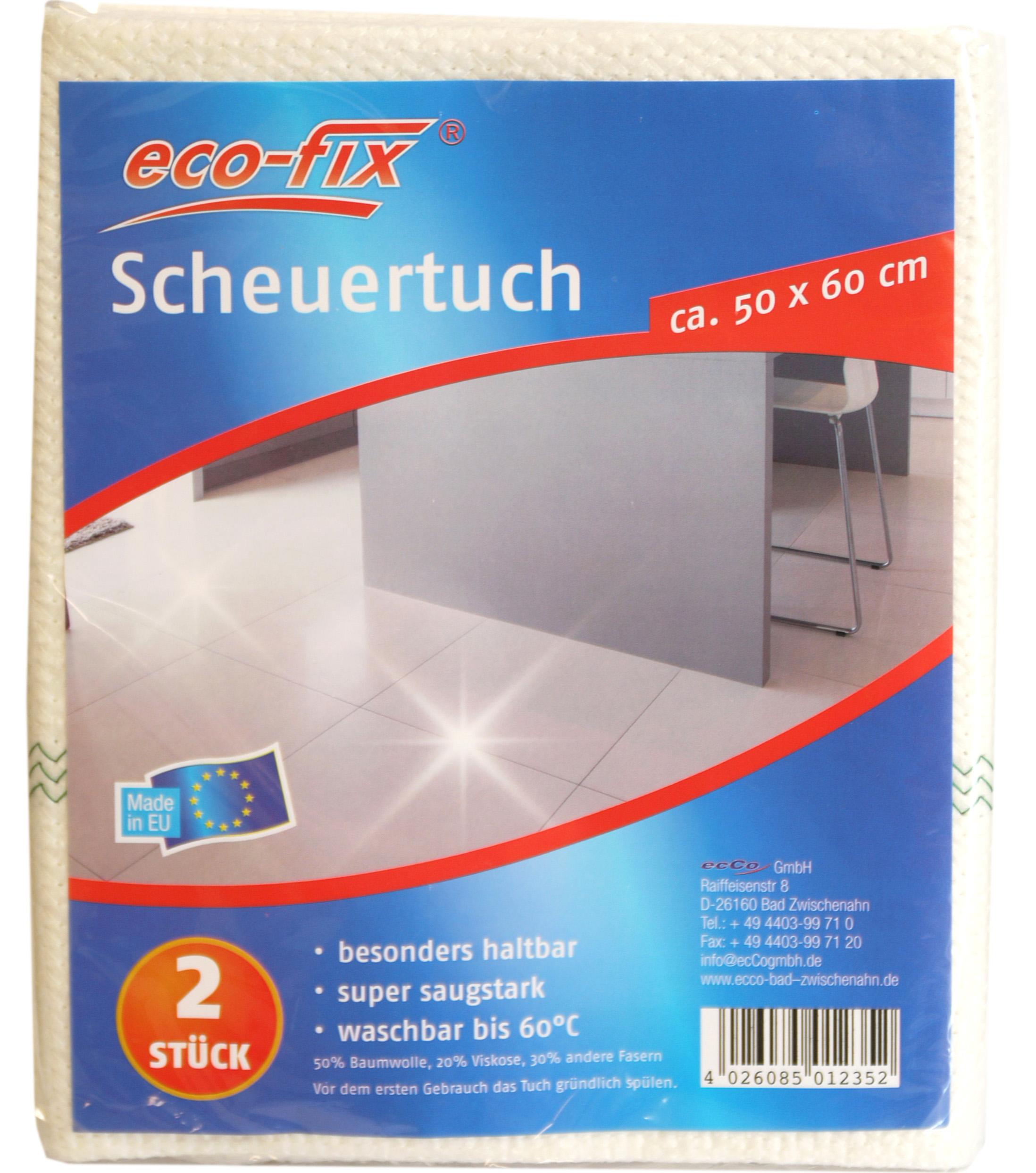 01235 - eco-fix Scheuertuch 2er 50x60 cm