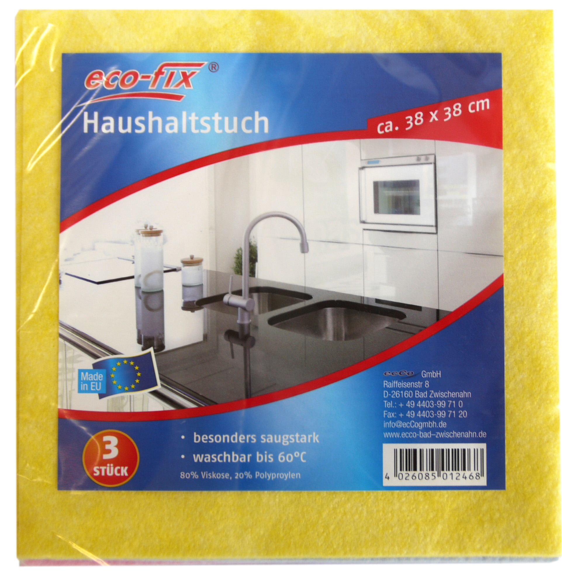 01246 - eco-fix Haushaltstücher 3er, 38x38cm