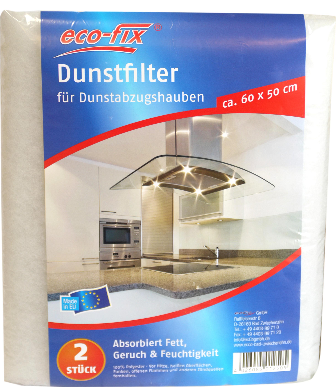 01250 - eco-fix Dunstfilter 2er, 60x50cm