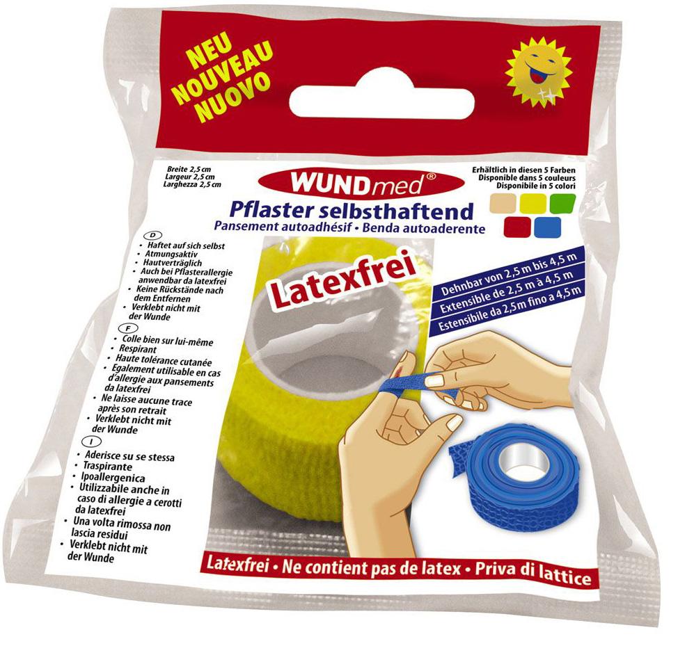 01777 - Pflaster kohäsiv latexfrei, Breite 2,5cm, farblich sortiert