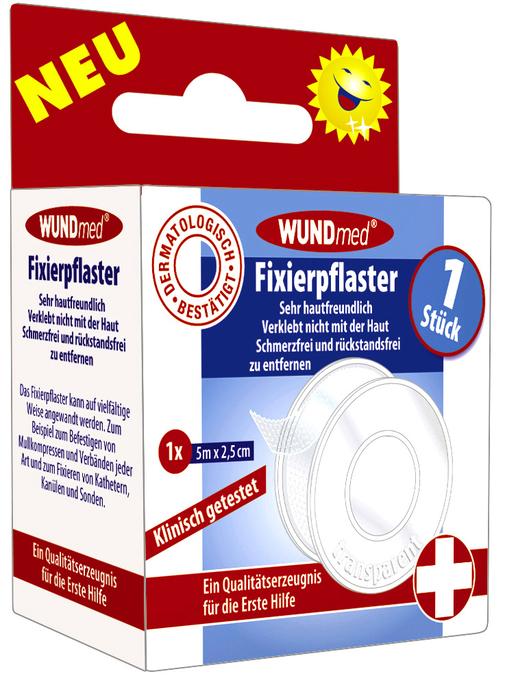 01806 - Fixierpflaster 5m x 2,5, transparent, 1er