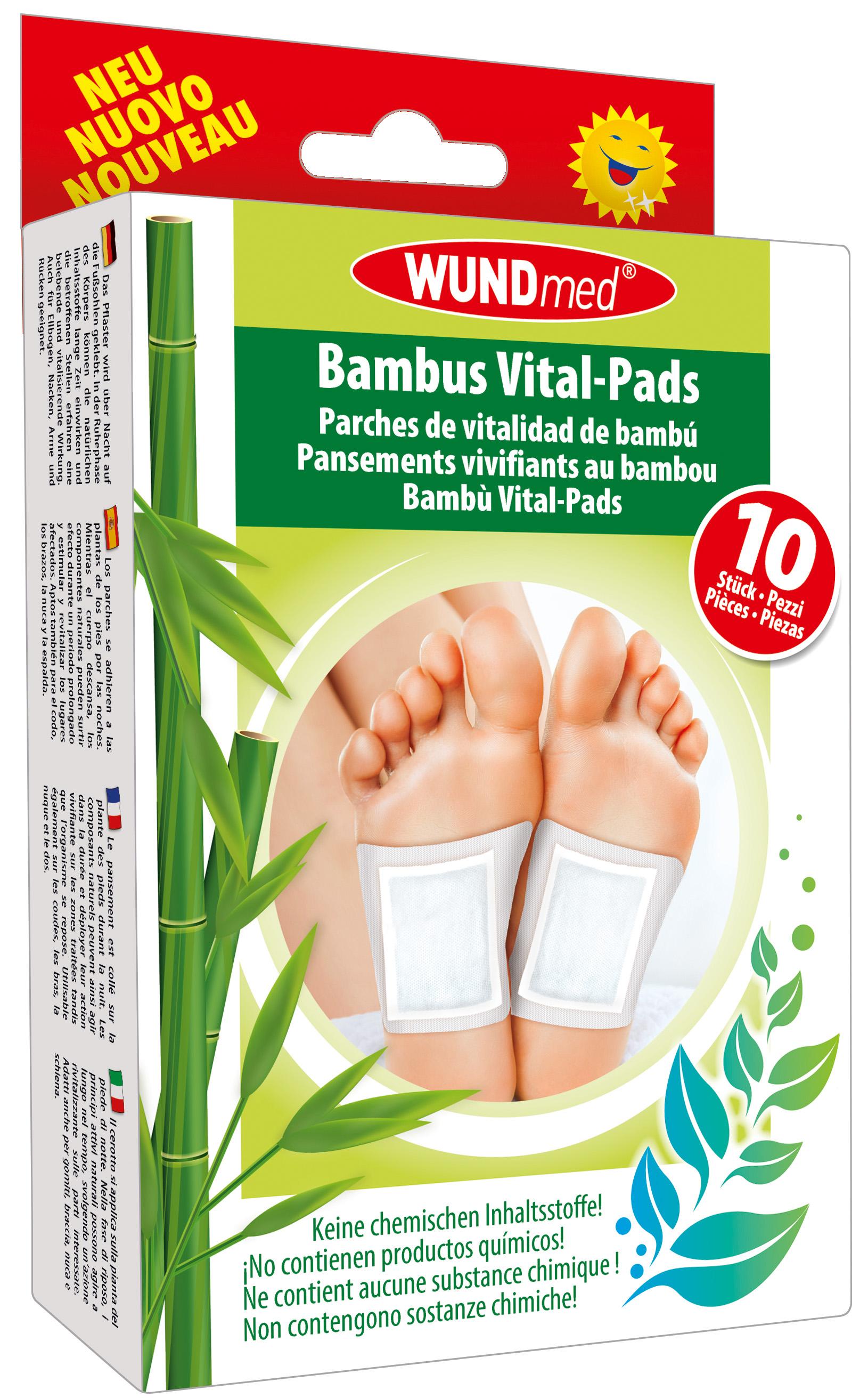 01812 - Wundmed Bambus Vital-Pads 10er