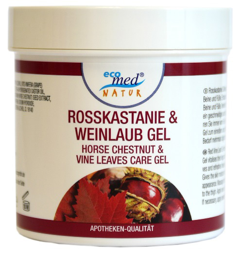 01844 - eco med Natur Rosskastanie & Weinlaub Gel 250 ml