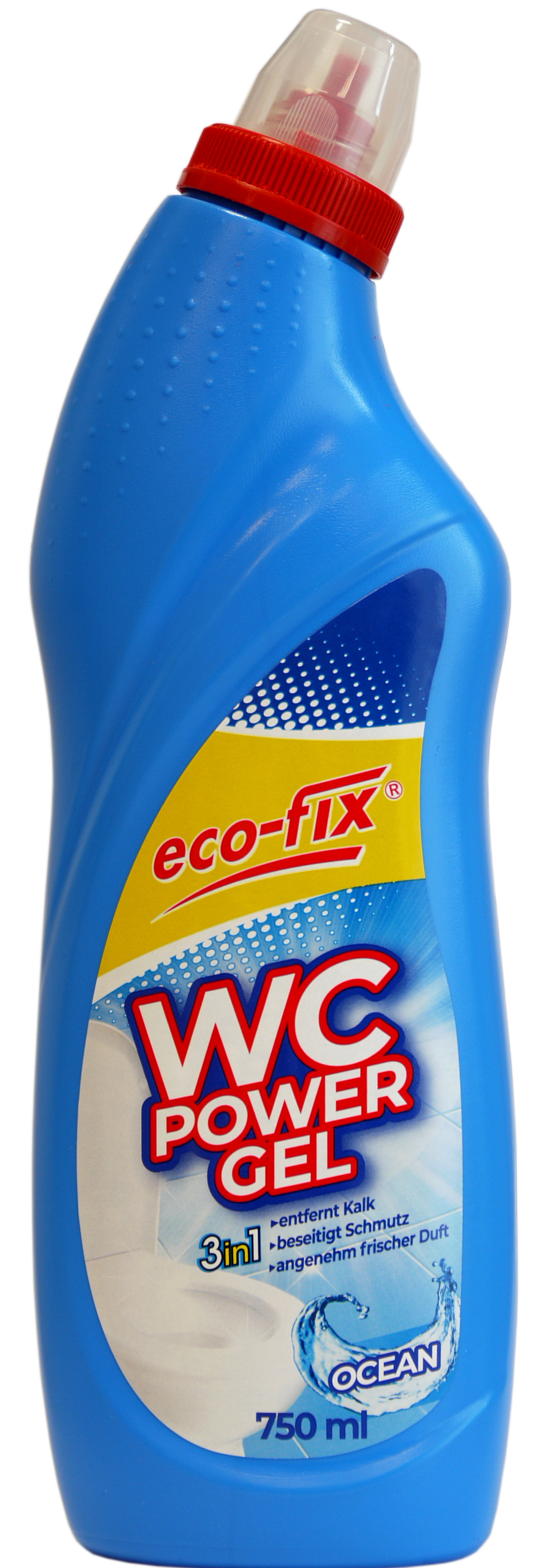 01860 - eco-fix WC Power Gel 750ml- Ocean