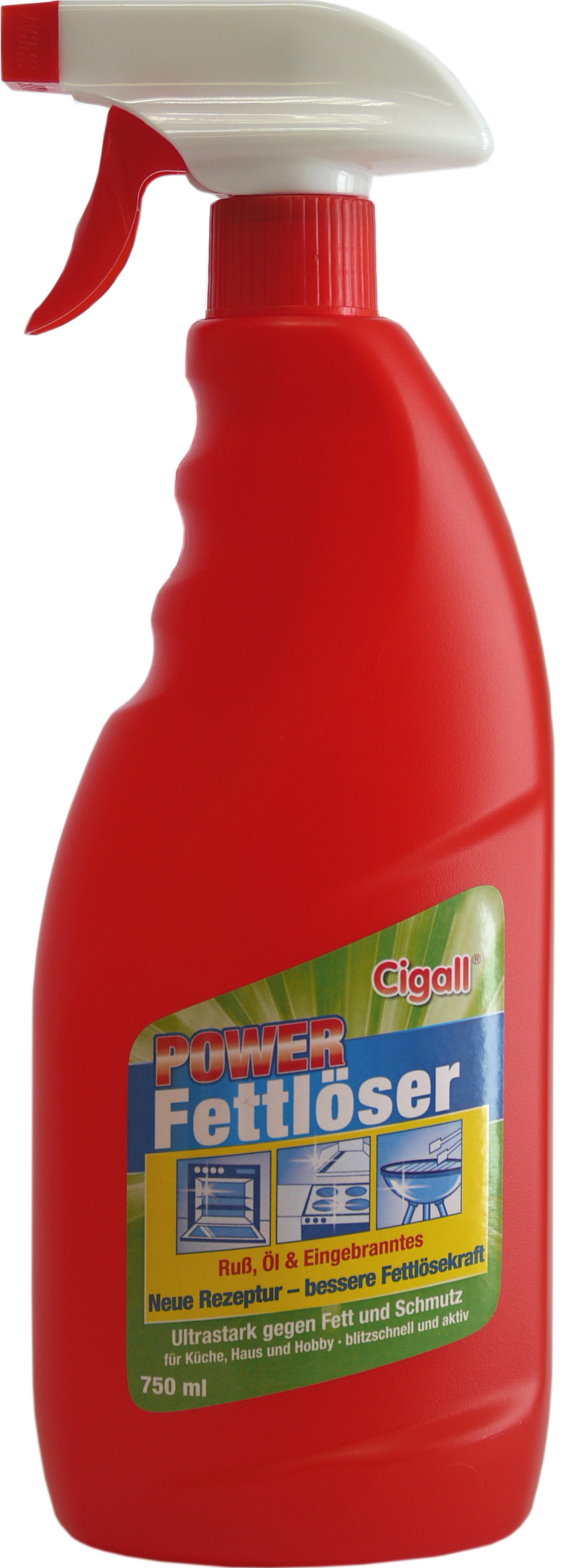 01875 - Cigall  Power Fettlöser 750 ml