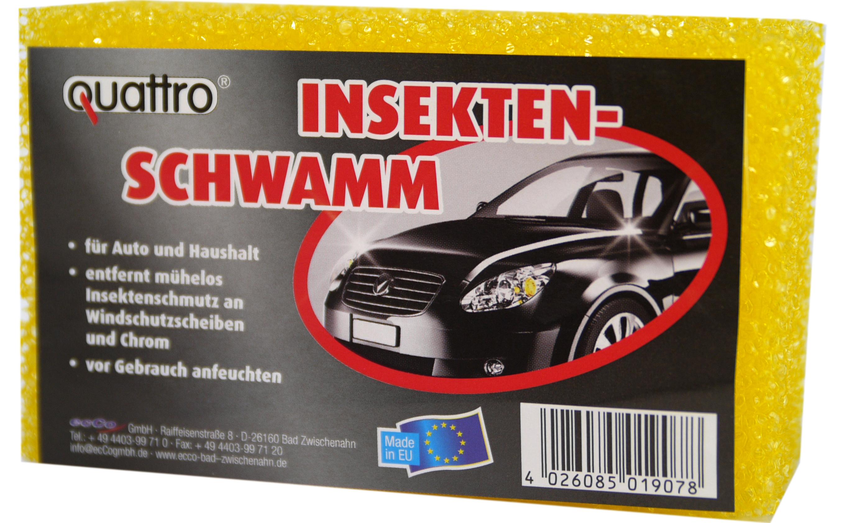 01907 - quattro Auto Insektenschwamm