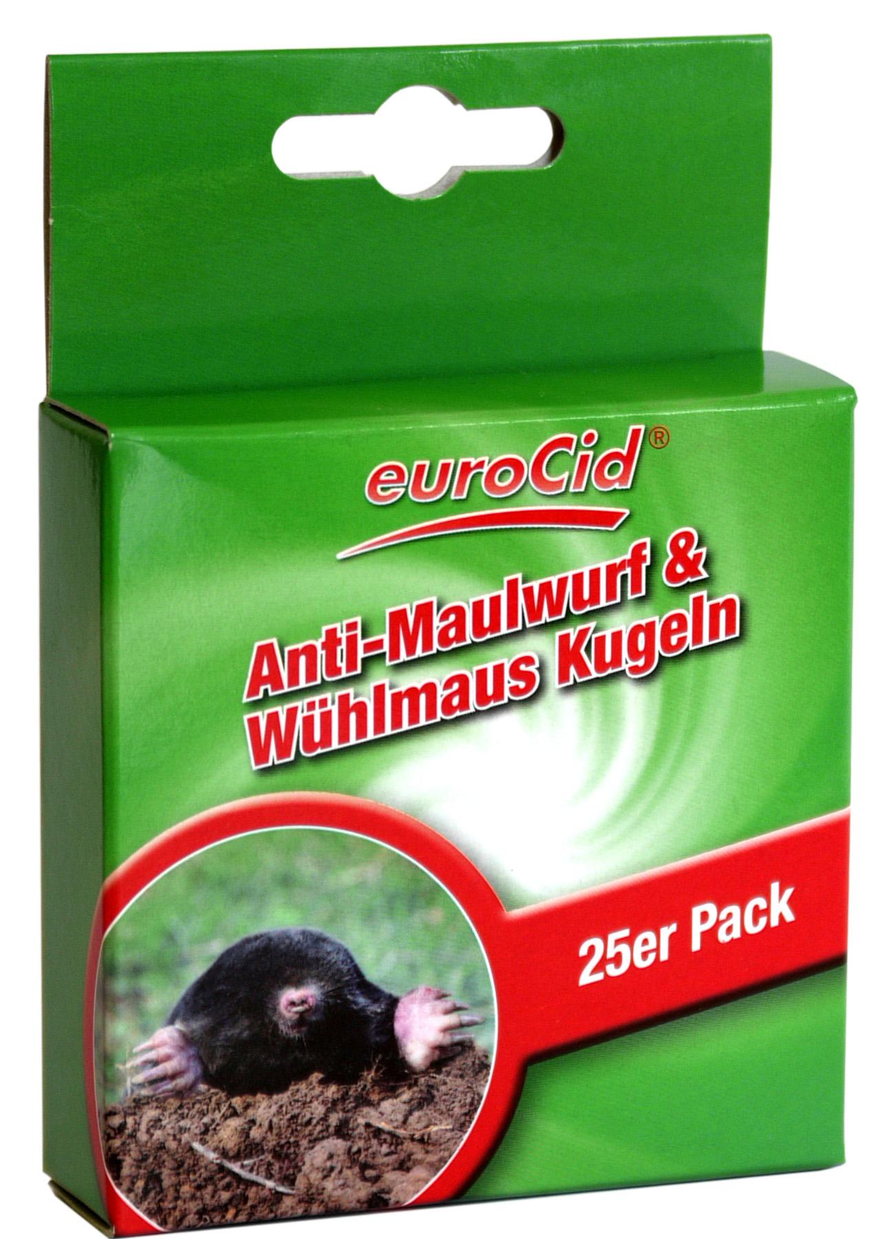 02187 - euroCid Anti-Maulwurf & Wühlmaus Kugeln 25er BIOZID