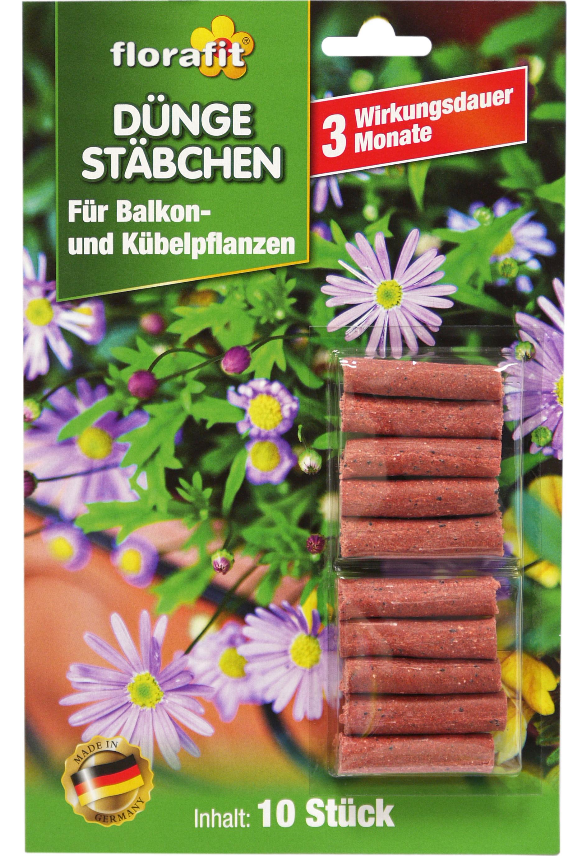 02240 - florafit Düngestäbchen für Balkon- und Kübelpflanzen 10er