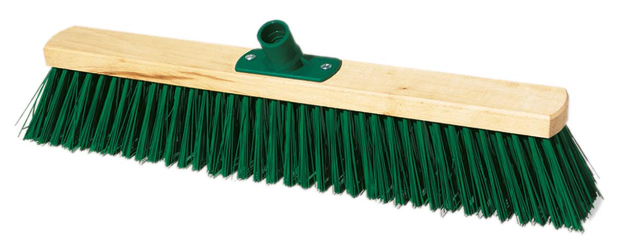 02292 - Straßenbesen, Holz, 50cm, mit Gewinde