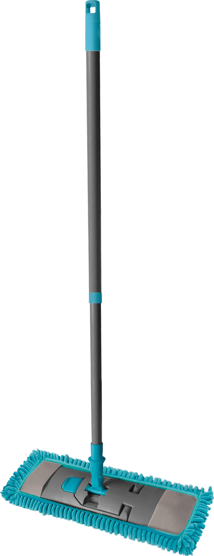 02327 - Chenille Flachwischer 3tlg, Teleskopstiel/ Wischer/Bezug