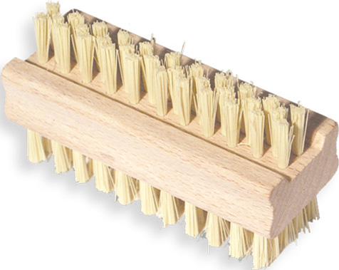 02343 - Nagelbürste, Holz, 2-seitig, 10x3,5cm