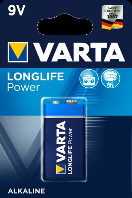 52716 - Varta Batterien 9V Block 1er- High Energy