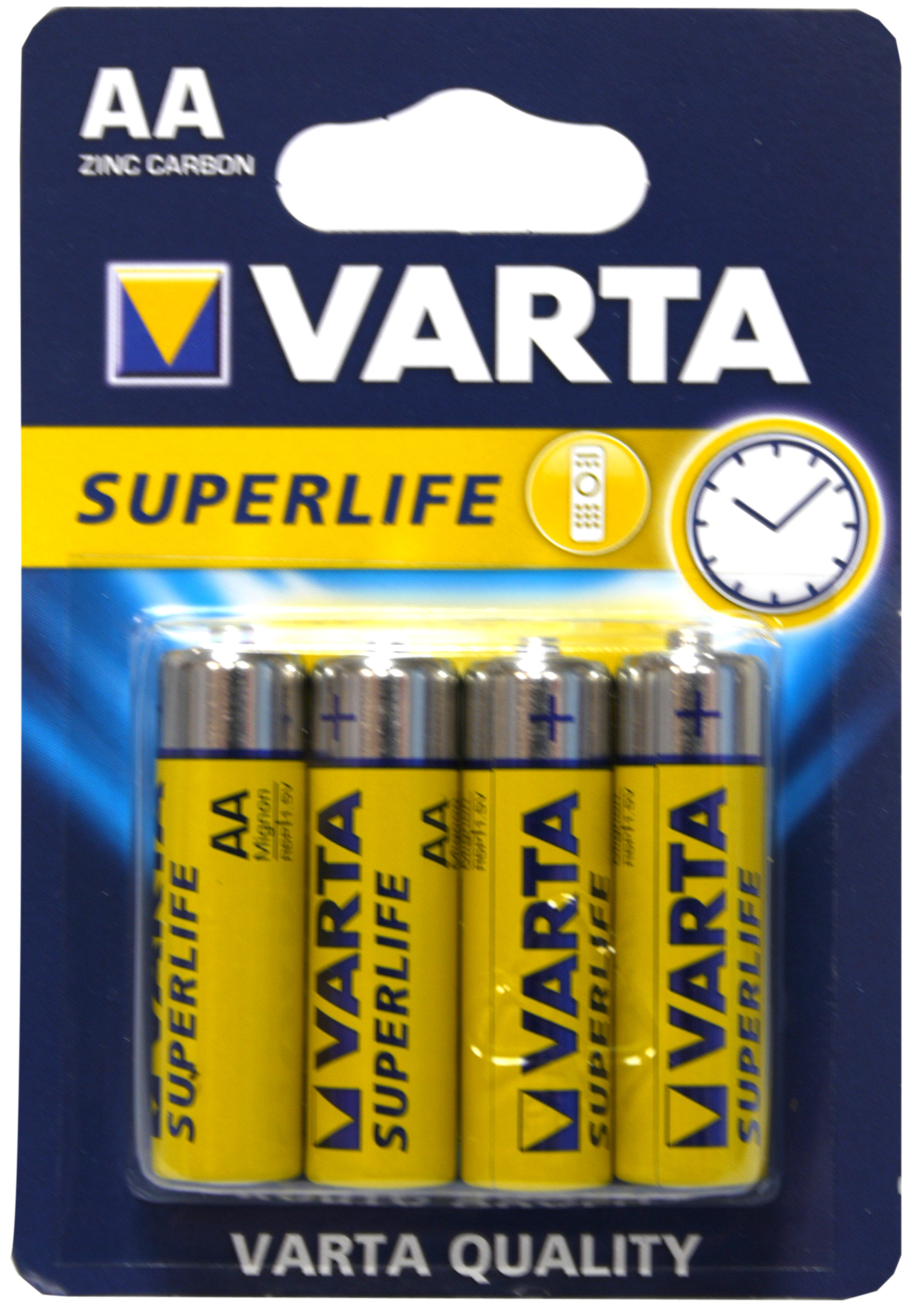 53521 - VARTA Batterien Superlife Mignon/ AA 4er Pack Blister