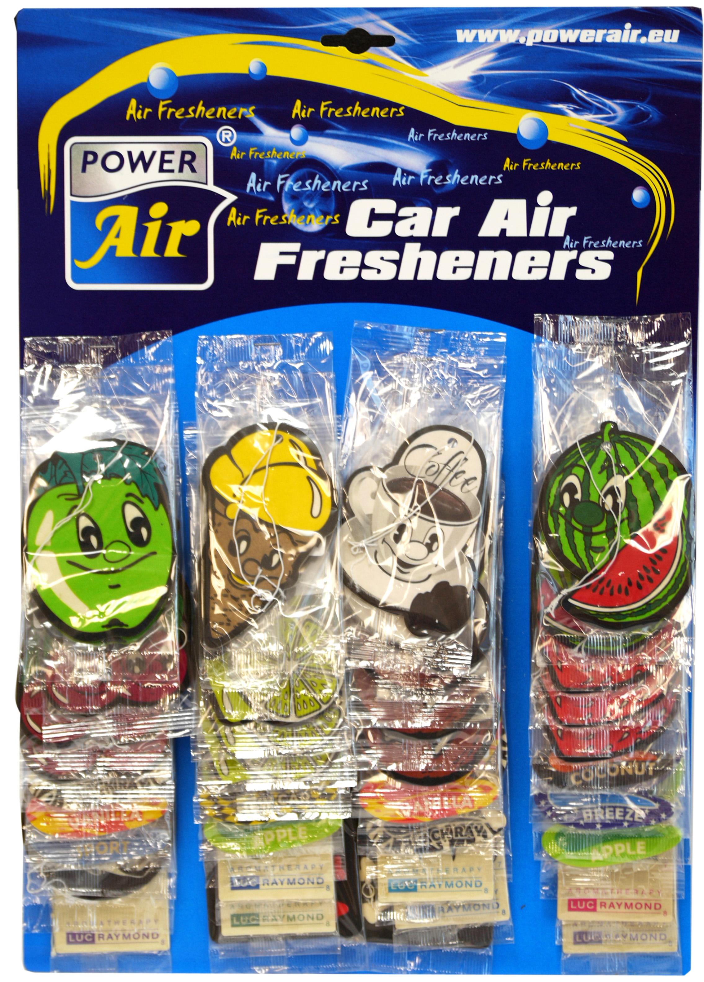 00526 - Auto Lufterfrischer Duftblätter Tafel 40 Stück