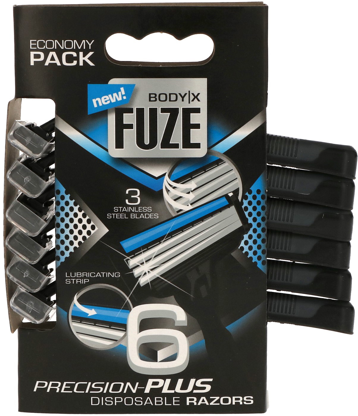 00646 - Razors for men tripple blades, 6 pcs