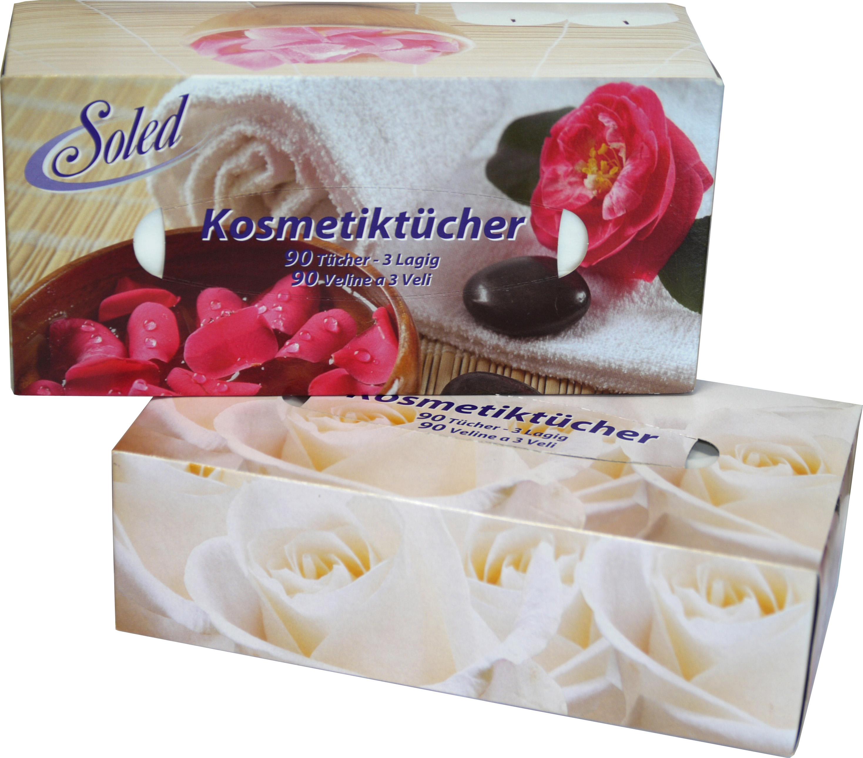 00699 - Soled Kosmetiktücher 3-lagig in 90 St