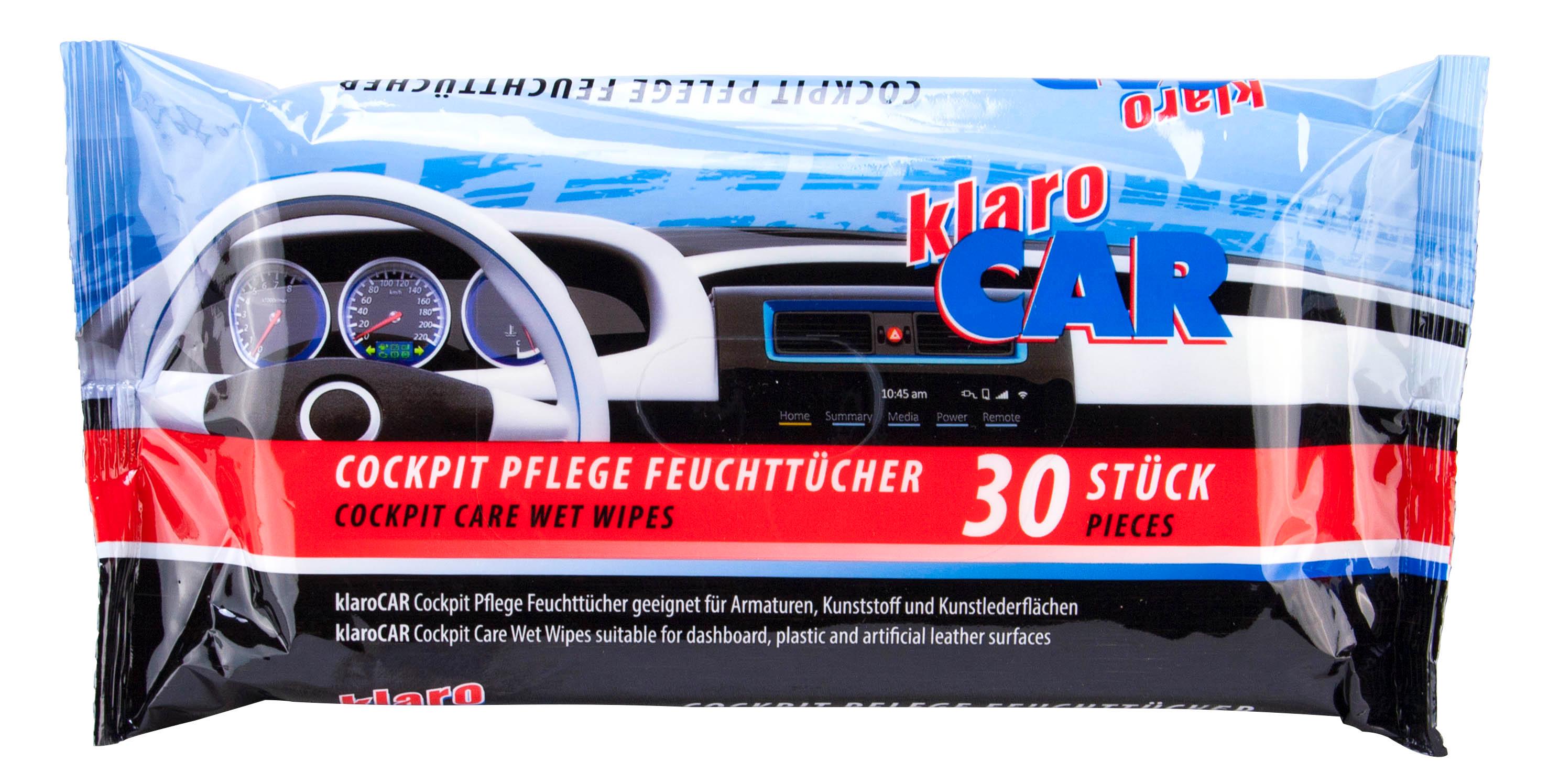 00715 - klaro CAR Cockpit Pflege Feuchttücher 30er