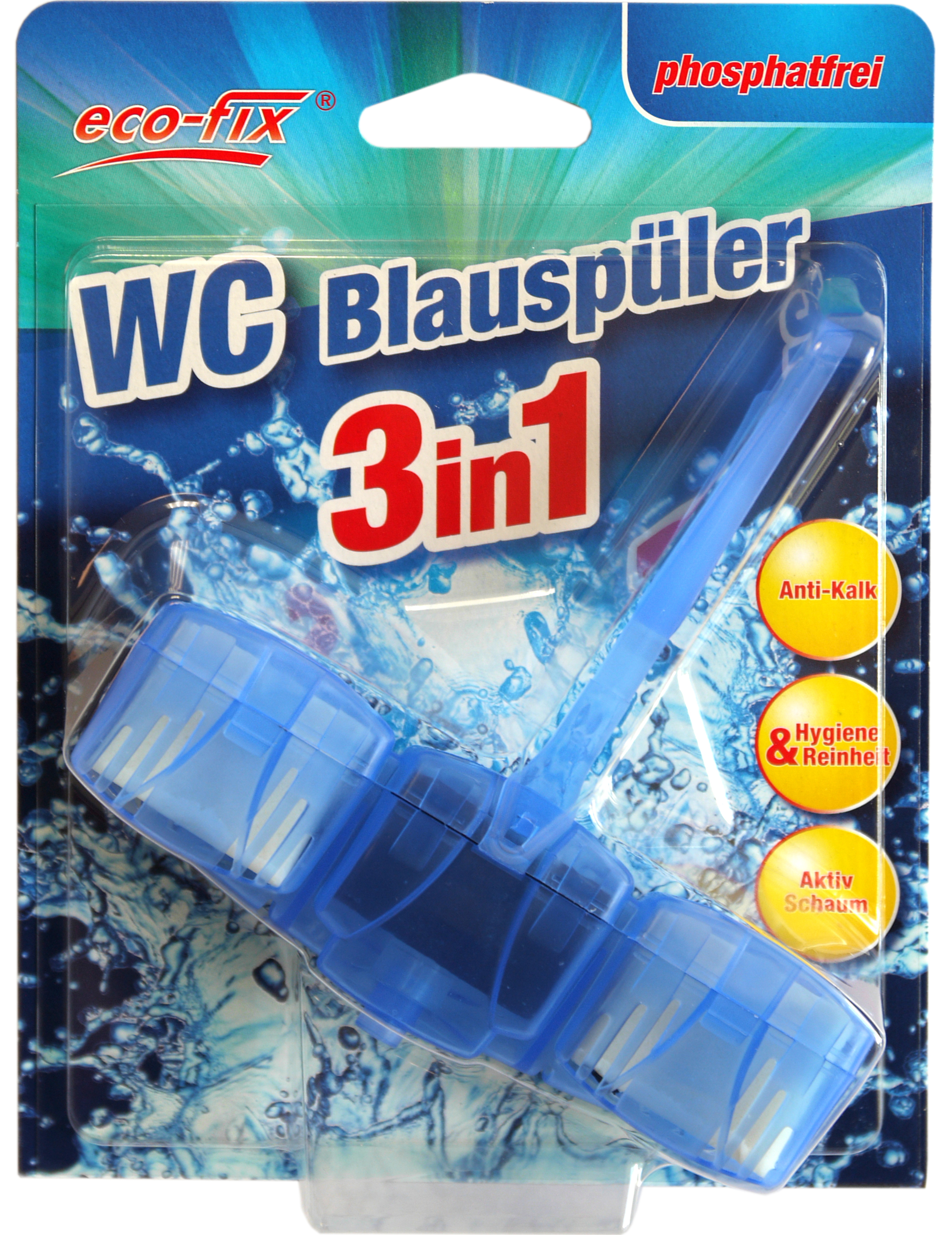 00859 - eco-fix WC Blauspüler 2in1 mit Chlor 1x40g