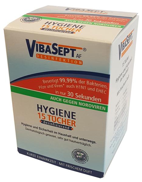 01217 - VibaSept Hygiene Desinfektionstücher 15er