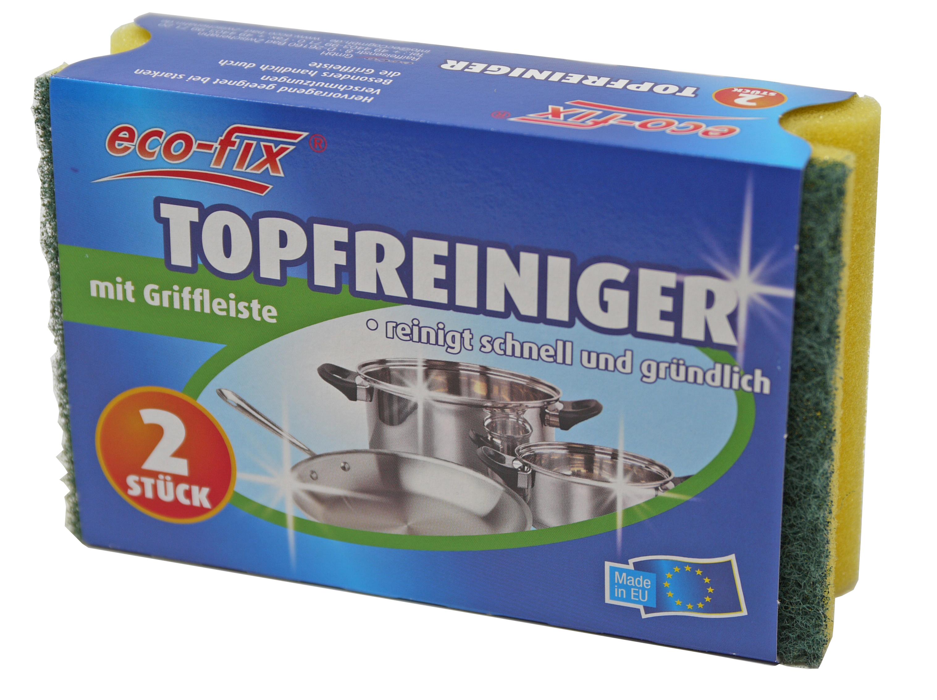 01300 - eco-fix Topfschwämme mit Griff 2er