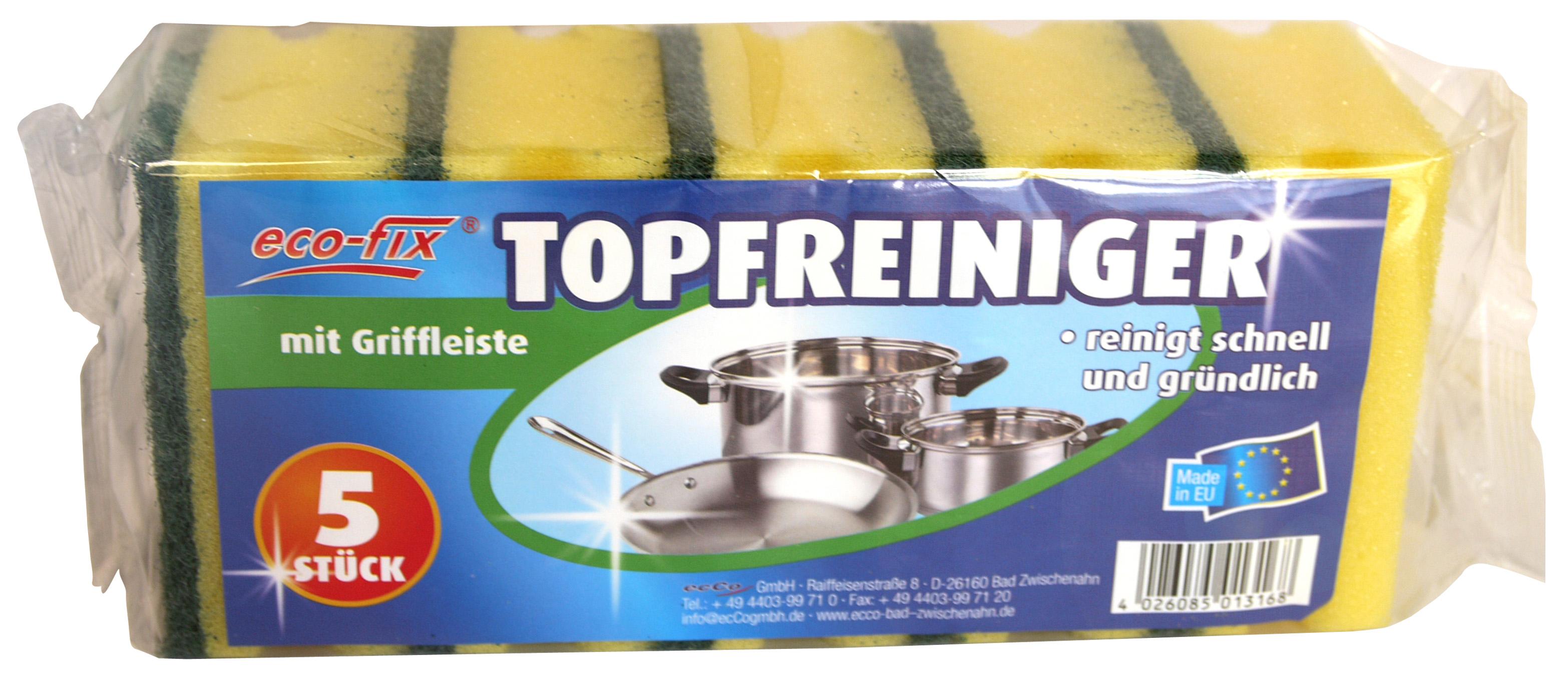 01316 - eco-fix Topfreiniger 5er mit Griffleiste