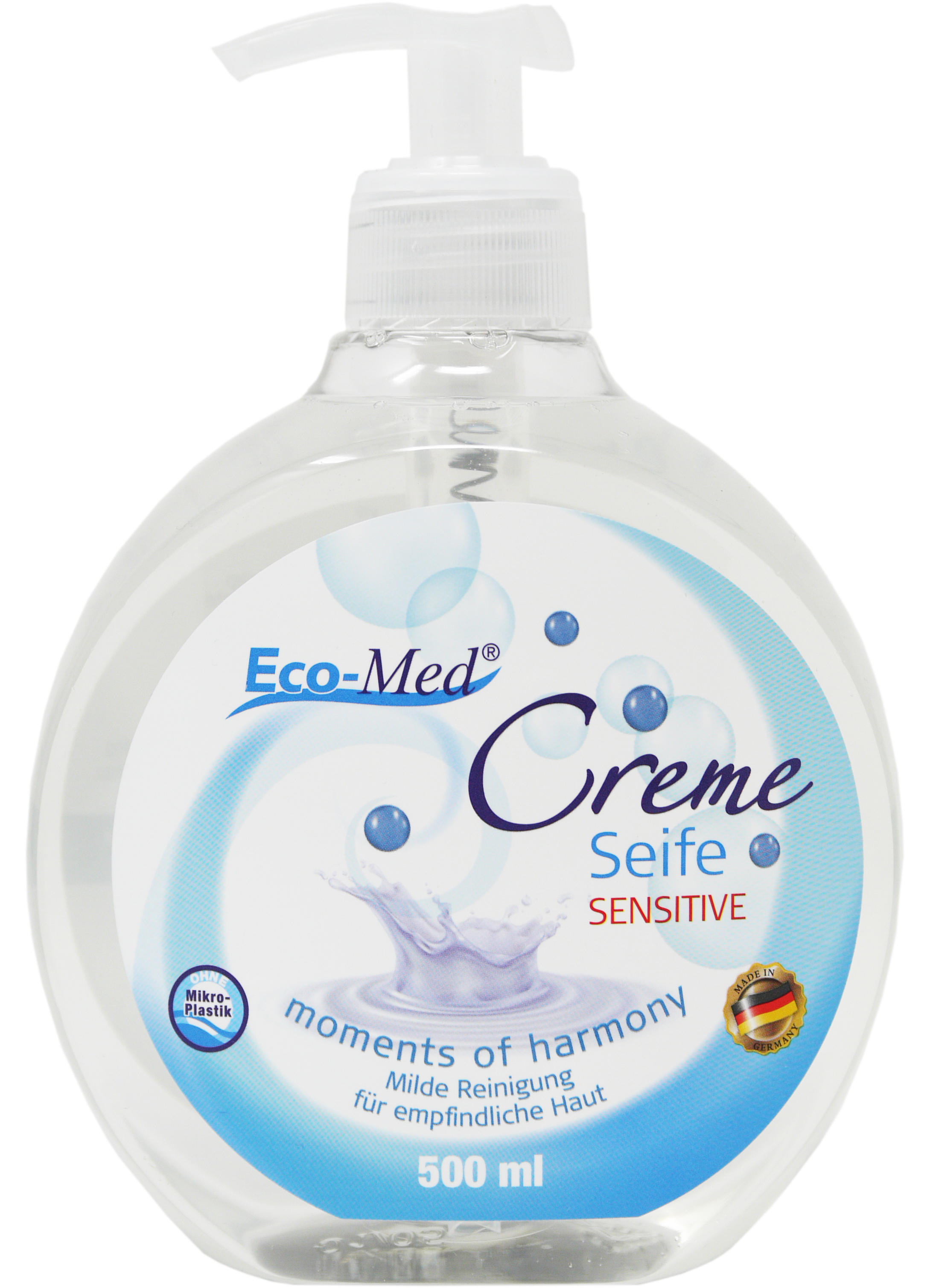 01620 - Eco-Med Cremeseife 500 ml - moments of harmony - sensitive