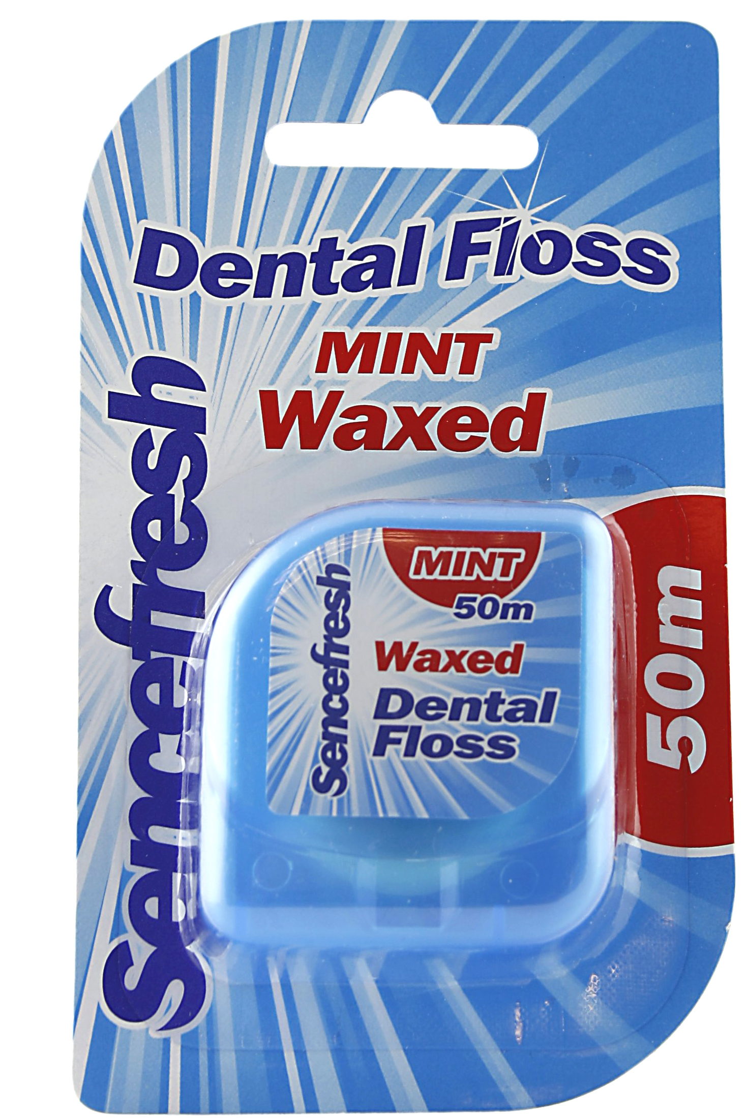 01718 - waxed dental floss mint, 50 m