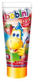 """01720 - Bobini Kinder Zahncreme """"Erdbeere"""" 75 ml"""