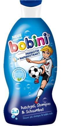 01722 - Bobini Duschgel, Shampoo & Schaumbad 330 ml, 3in1, Super Kicker