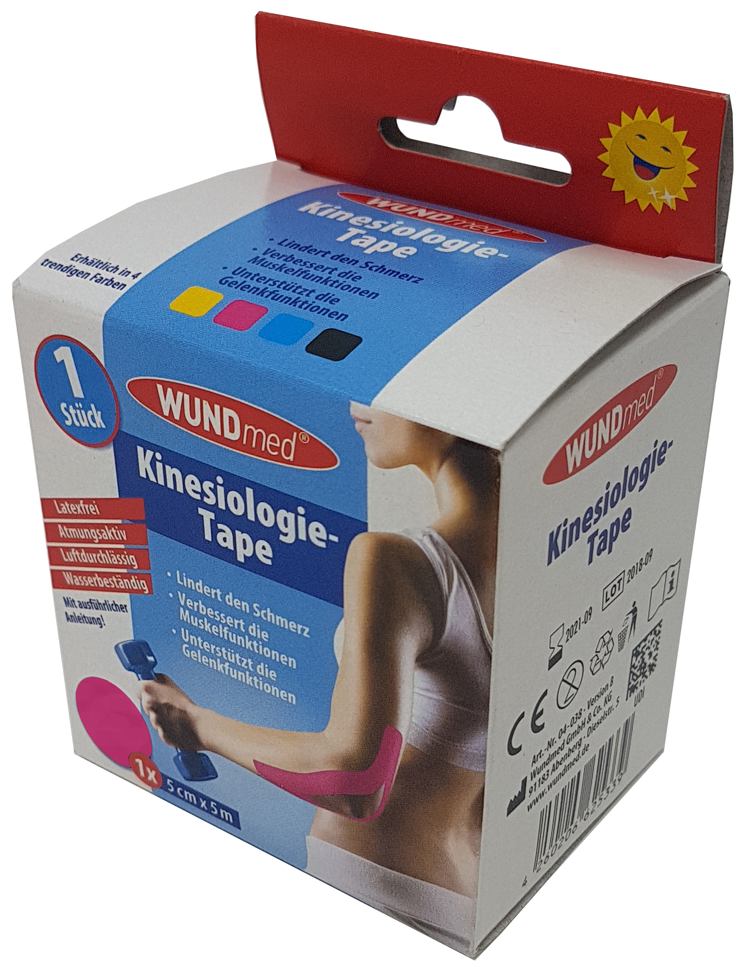 01768 - Wundmed Kinesiologisches Tape, 5m x 5cm, pink
