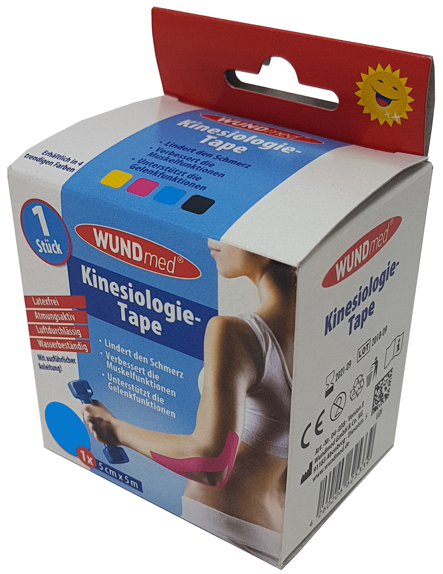 01769 - Wundmed Kinesiologisches Tape, 5m x 5cm, türkis