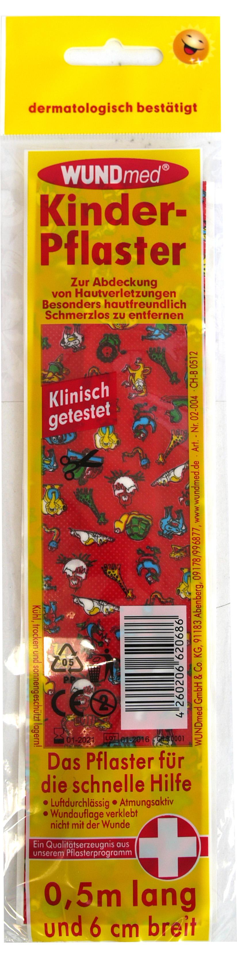 01791 - Kinderpflaster 0,5m x 6cm, sortiert