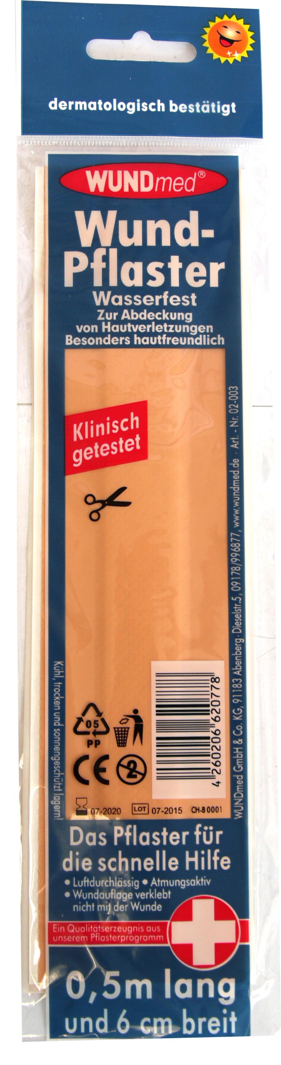 01792 - Wundpflaster 0,5m x 6cm, wasserfest