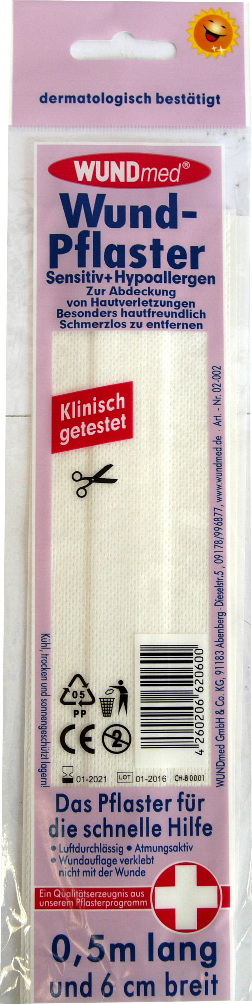 01793 - Wundpflaster 0,5m x6cm, sensitive-hypoallergen