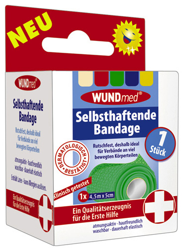 01807 - Selbsthaftende Bandage 4,5m x 5cm , 1er
