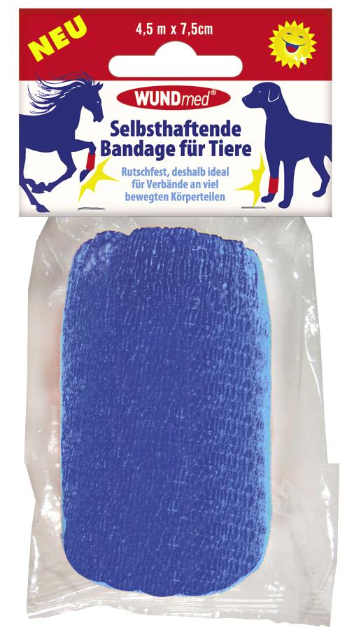 01814 - Selbsthaftende Bandage für Tiere 4,5m x 7,5cm, 1er