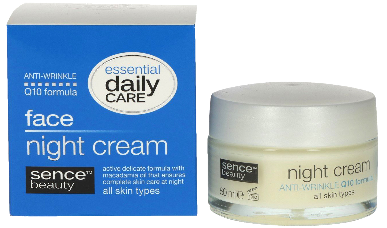 01825 - face night cream Q10, 50 ml - all skin types