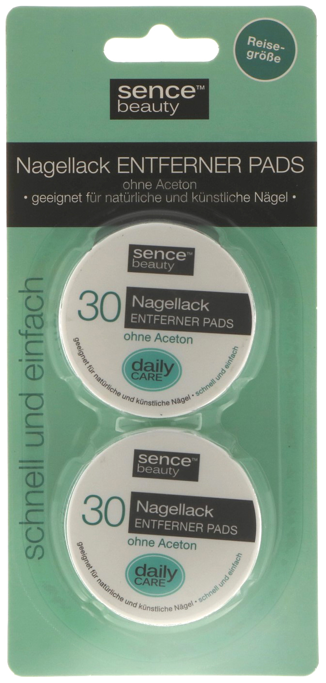01830 - nail polish remover pads, 2x 30 pieces, free of acetone