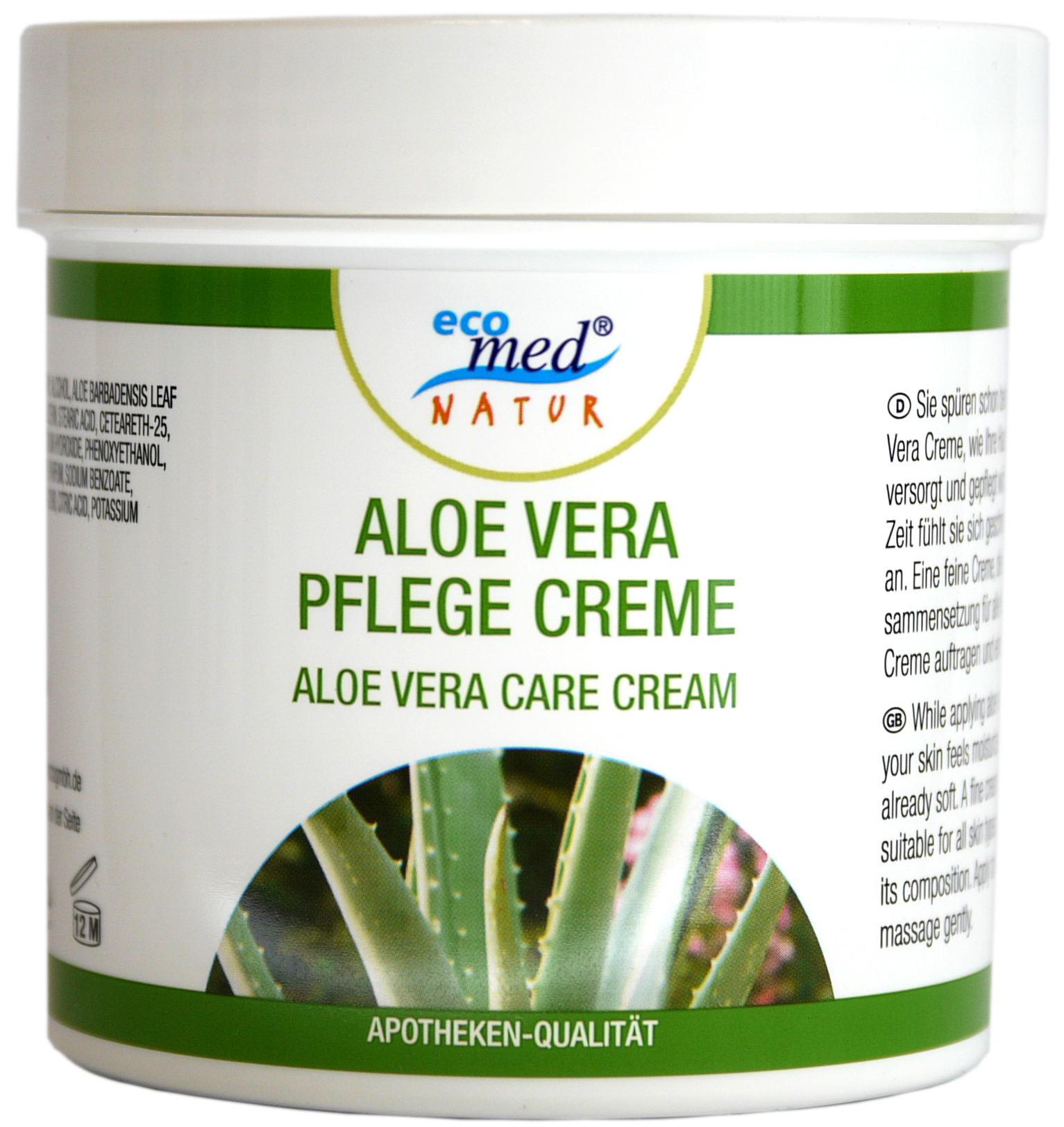 01840 - eco med Natur Aloe Vera Pflege Creme 250 ml