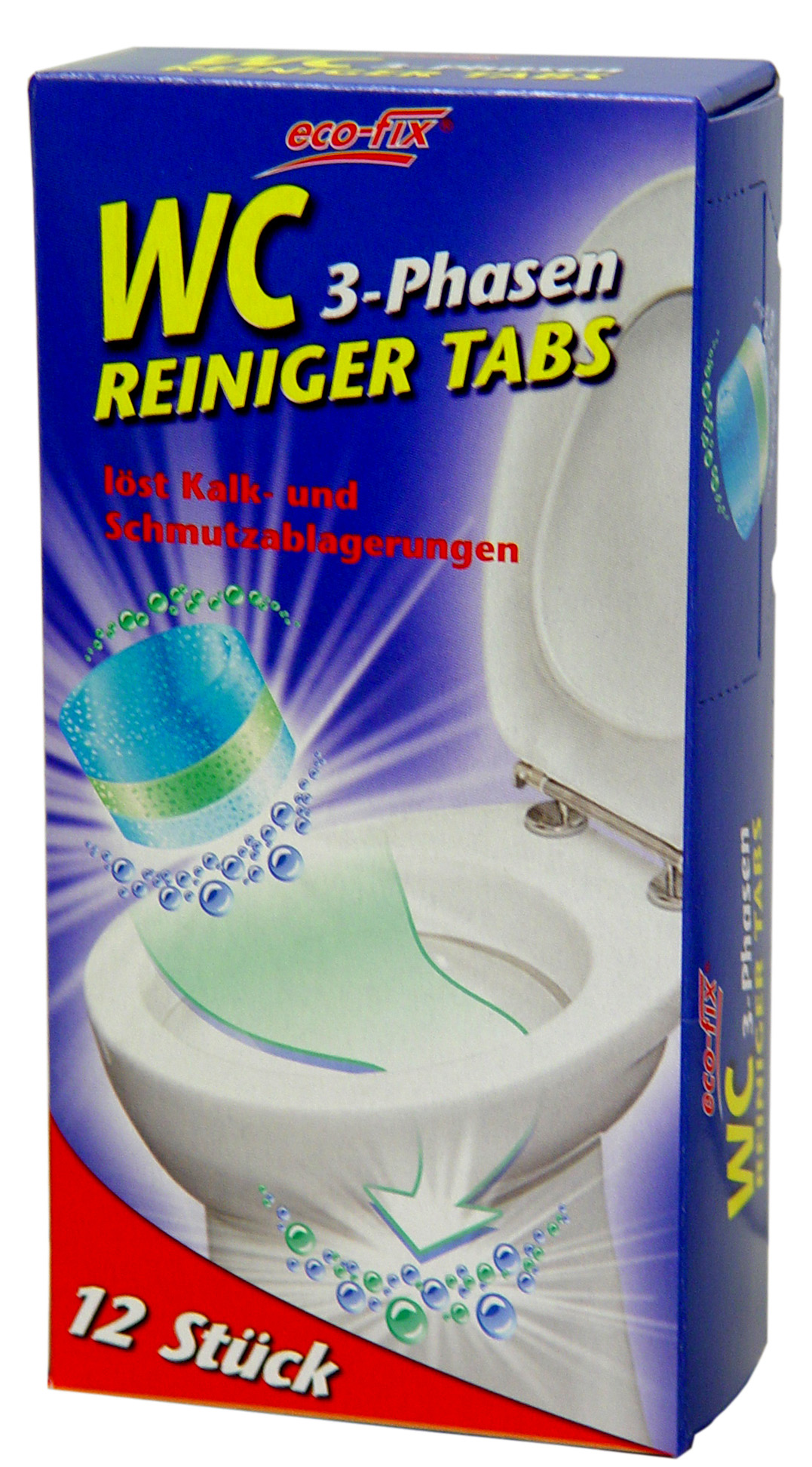01866 - eco-fix WC 3-Phasen Reiniger Tabs 12er Pack
