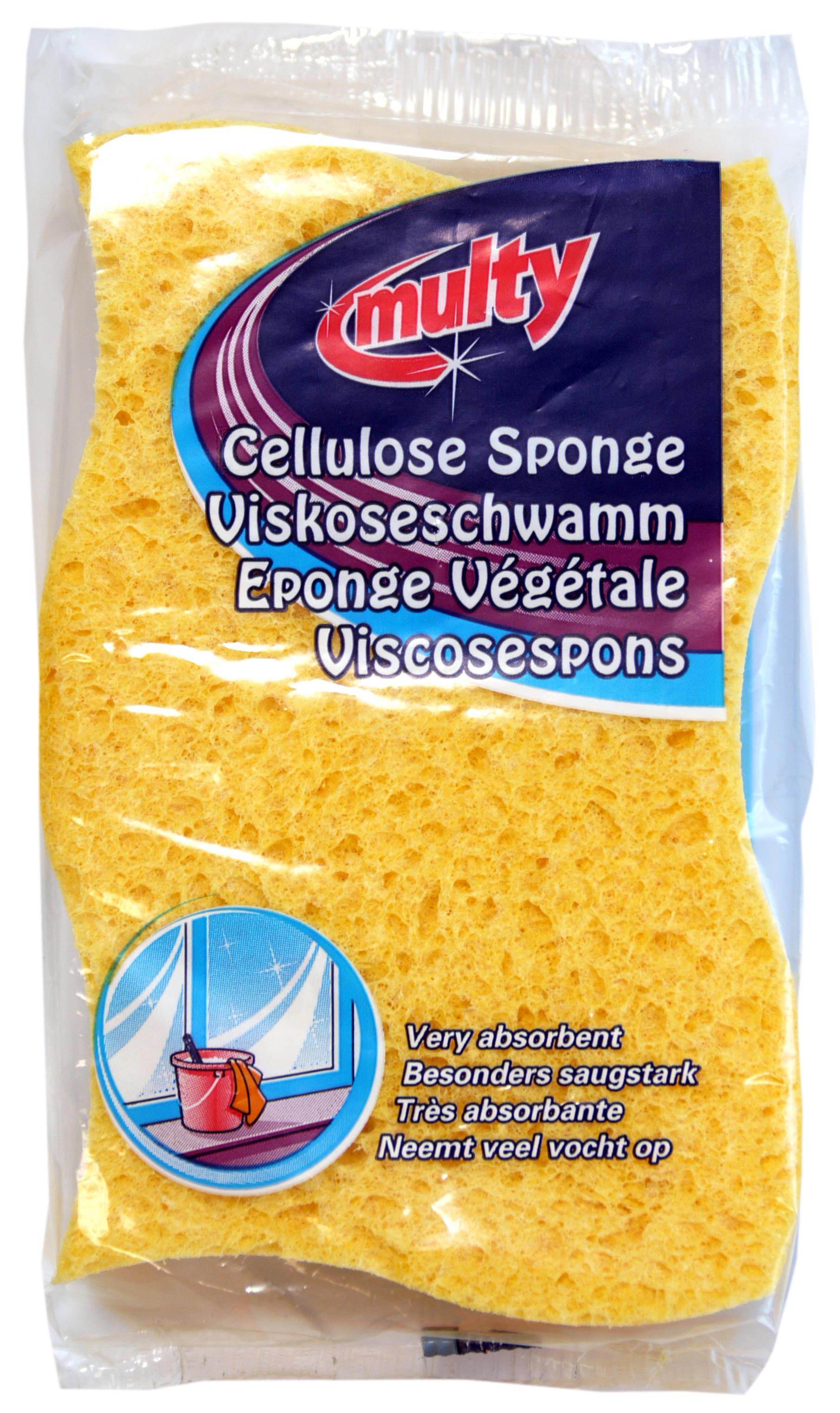 01910 - Cellulose household sponge, ca. 14x9 cm