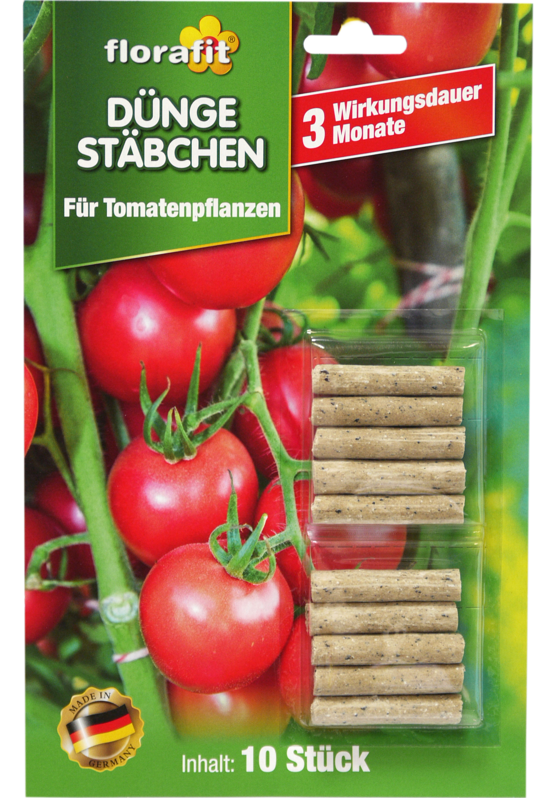 02245 - florafit Düngestäbchen für Tomaten 10er