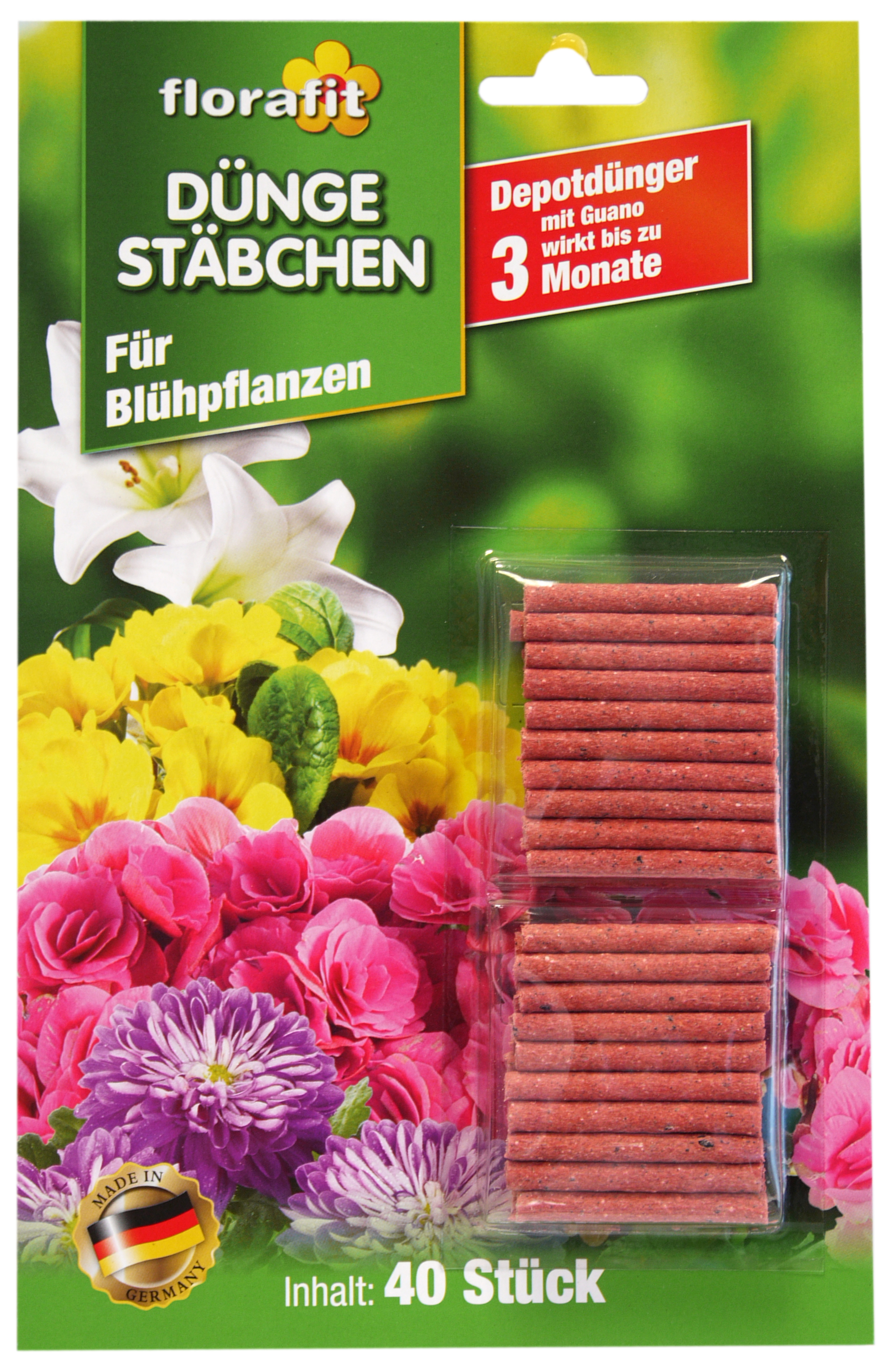 02250 - fertilizer sticks for flowers, 40 pcs blistered