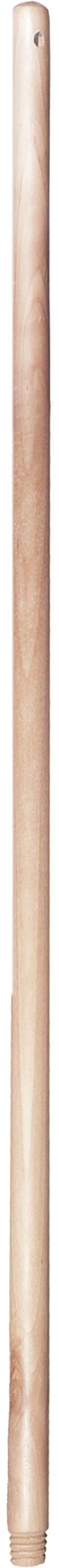 02297 - Besenstiel 130cm, Holz mit Holzgewinde