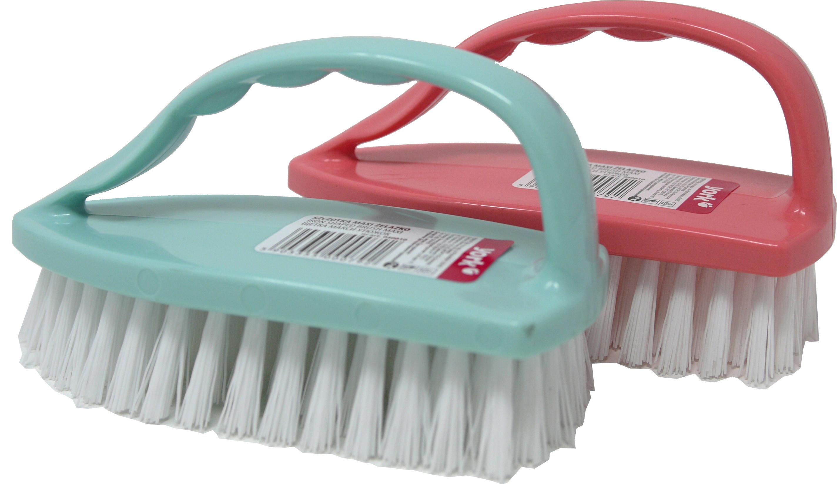 02302 - Handschrubber mit Griff, Kunststoff, 6x14cm, farbig sortiert