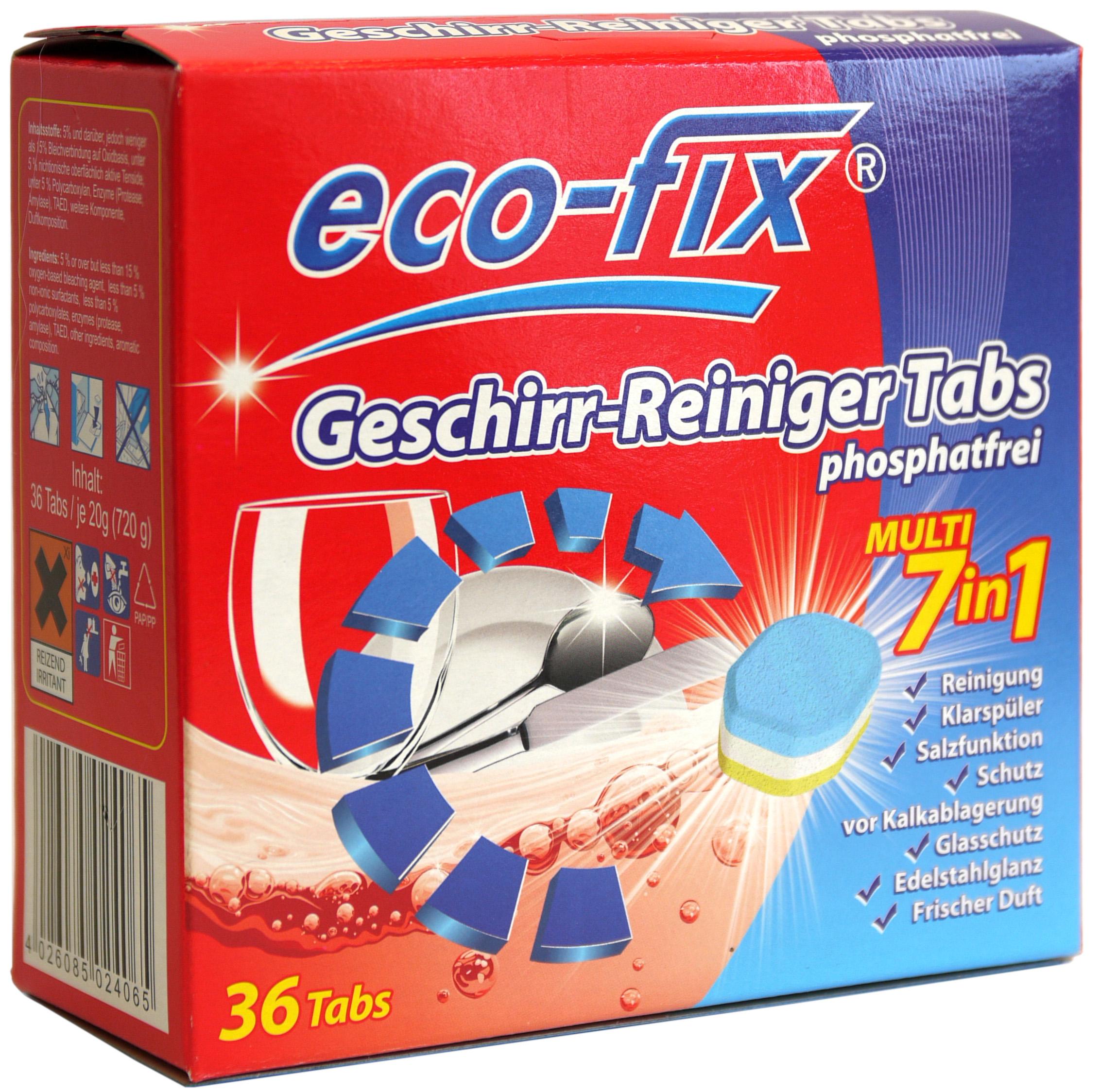 02406 - eco-fix Geschirrreiniger-Tabs 36er 7in1